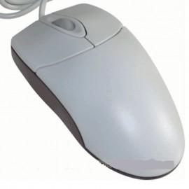 Souris Optique Filaire USB 57198 3 Boutons Beige Rouge Transparent 800-DPI Mouse