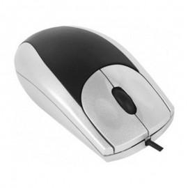 Souris Optique Filaire USB 571984 3 Boutons Gris Argenté Noir PC Mouse