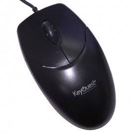 Souris Optique Filaire USB KeyOuest 3PEAK0428 3 Boutons Noir PC Mouse