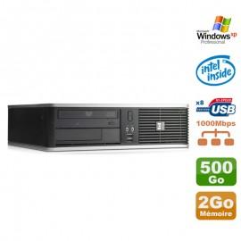 PC HP DC7900 SFF Dual Core E5300 2.6Ghz 2Go Disque 500Go DVD XP Pro