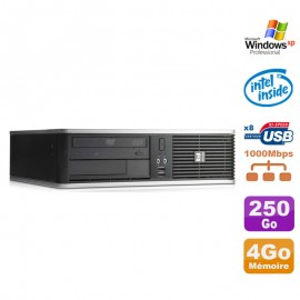 PC HP DC7900 SFF Dual Core E5300 2.6Ghz 4Go Disque 250Go DVD XP Pro