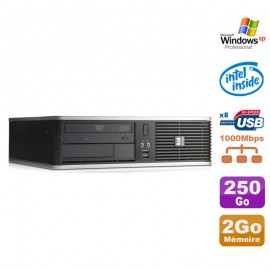 PC HP DC7900 SFF Dual Core E5300 2.6Ghz 2Go Disque 250Go DVD XP Pro