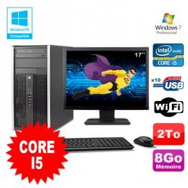 Lot PC Tour HP 8200 Core I5 3.1Ghz 8Go 2To Graveur WIFI W7 + Ecran 17