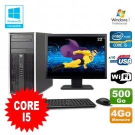 Lot PC Tour HP 8200 Core I5 3.1Ghz 4Go 500Go Graveur WIFI W7 + Ecran 22