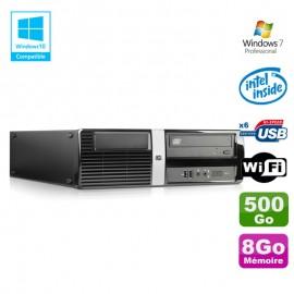 PC HP Pro 3010 SFF Intel Dual Core E5800 3.2Ghz 4Go Disque 500Go DVD WIFI Win 7