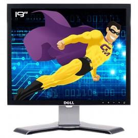 """Ecran Plat PC 19"""" DELL 1907FPt 0CC289 LCD TFT VGA DVI Hub 4xUSB-A 1xUSB-B 5:4"""