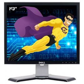"""Ecran Plat PC 19"""" DELL 1908FPt 0G470H 0DY296 LCD TFT VGA DVI 4xUSB-A 1xUSB-B 5:4"""