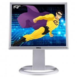 "Ecran Plat PC 19"" DELL 1907FPVt 0XP275 LCD TFT VGA DVI 4xUSB-A 1xUSB-B 1280x1024"