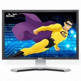 """Ecran Plat PC 22"""" DELL 2208WFPt 0PX082 LCD TFT TN VGA DVI 4xUSB-A 1xUSB-B 16:10"""