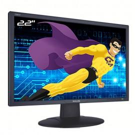 """Ecran Plat PC 22"""" PHILIPS 220EW8FB HEW8220Q LCD TFT VGA DVI 1680x1050 16:10"""