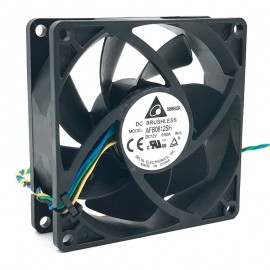 Ventilateurs Delta DC Brushless AFB0812SHB DC 12V Fan 4-Pin 60cm 80x80x25mm