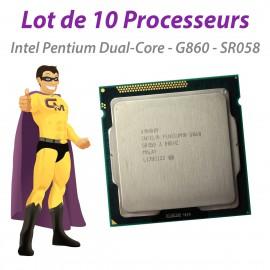Processeur CPU Intel Pentium G860 3Ghz 3Mo 5GT/s LGA1155 Dual Core SR058