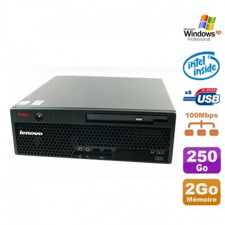 PC IBM Lenovo Thinkcentre M55 8795-B3G uSFF Pentium D 3.00Ghz 2Go 250Go XP Pro