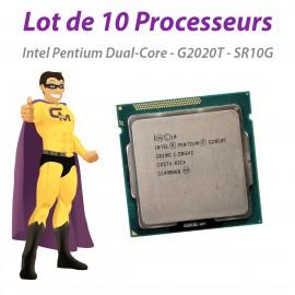 Processeur CPU Intel Pentium Dual Core G2020T 2.5Ghz SR10G 3Mo 5GT/s LGA1155