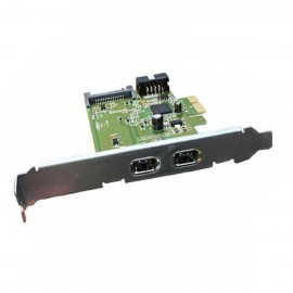 Carte PCI Dual Firewire Interconnect HI349-2 HP 628008-001 631333-001 SATA 9-Pin