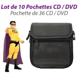 Lot 10x Classeurs Rangements 36 CD Housses Pochettes Sacoches DVD DJ Pro NEUF