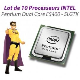 Lot x10 Processeurs CPU Intel Pentium Dual Core E5400 2.7Ghz 800Mhz LGA775 SLGTK