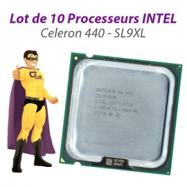 Lot x10 Processeurs CPU Intel Celeron 440 2Ghz 512Ko 800Mhz Socket LGA775 SL9XL