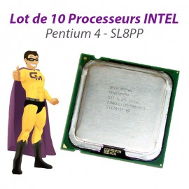 Lot x10 Processeurs CPU Intel Pentium 4 HT 521 2.8GHz 800Mhz Socket LGA775 SL8PP
