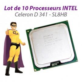 Lot x10 Processeurs CPU Intel Celeron D 341 2.93Ghz 533Mhz Socket LGA775 SL8HB