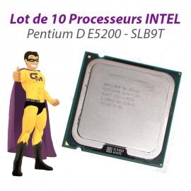 Lot x10 Processeurs CPU Intel Pentium Dual Core E5200 2.5Ghz 800Mhz LGA775 SLB9T