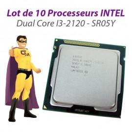 Lot x10 Processeurs CPU Intel Dual Core I3-2120 3.3Ghz 3Mo 5GT/s FCLGA1155 SR05Y
