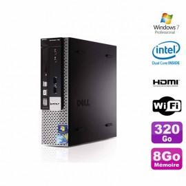 PC DELL Optiplex 780 Ultra uSFF E5800 3,20Ghz 8Go 320Go Wifi Graveur Win 7 Pro