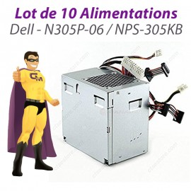 Lot x10 Alimentations PC et Serveur DELL N305P-06 NPS-305KB Power Supply 305W