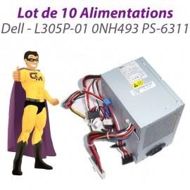 Lot x10 Alimentations Dell L305P-01 0NH493 NH493 PS-6311 Serveur PowerEdge T110