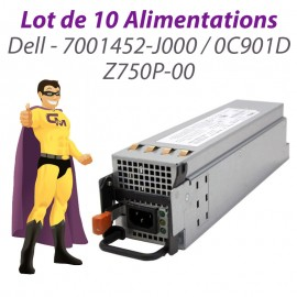 Lot x10 Alimentations Dell Serveur PowerEdge 2950 7001452-J000 0C901D Z750P-00
