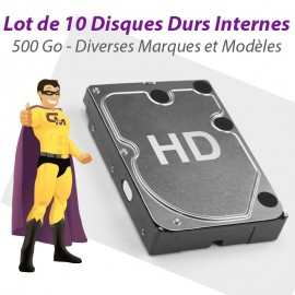"Lot 10x Disques Durs 500Go SATA 3.5"" Western Digital Seagate Hitachi Toshiba"