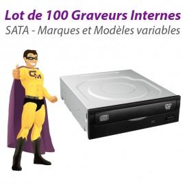 "Lot de 100 Graveurs DVD Internes SATA 5.25"" Philips Sony LG Nec Toshiba Plextor"