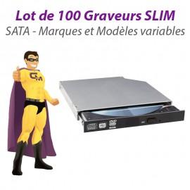 Lot 100x GRAVEURS Lecteurs DVD-RW SLIM Drive SATA PC Portable SFF