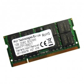 1Go RAM PC Portable SODIMM PNY Technologies 64A0TFTYE8G17 PC2-5300 DDR2 667MHz