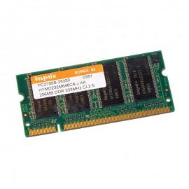 256Mo RAM PC Portable Hynix HYMD232M646C6-J AA SODIMM DDR PC-2700S 333MHz CL 2.5