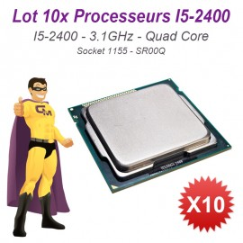 Lot x10 Processeurs CPU Intel I5-2400 Quad Core 3.1Ghz Socket LGA1155 SR00Q