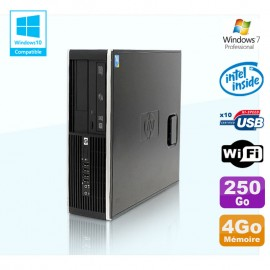 PC HP Compaq Elite 8100 SFF G6950 2,8 GHz 4Go 250Go Wifi Graveur W7 Pro