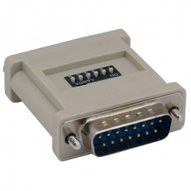 Adaptateur DB15 Mâle vers HDD15 Femelle W/10 Dip Switch Beige