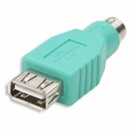 Adaptateur PS/2 Mâle vers USB 2.0 Femelle APM 510045 Clavier Souris Vert NEUF