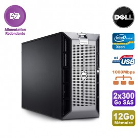 Serveur DELL PowerEdge 2900 Xeon DualCore 5110 12Go Ram Ecc 2x300Go SAS
