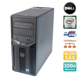 Serveur DELL PowerEdge T110 II Xeon Quad Core E3-1220 V2 32Go ECC 4x 3To SAS