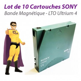 Lot x10 Cartouches SONY LTX800G LTO Ultrium 4 LTO4 800Go 1,6To Lecteur Bande