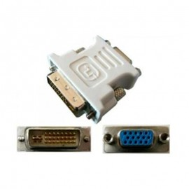 Adaptateur VGA Femelle vers DVI-I Mâle Dual Link Ecran PC MAC
