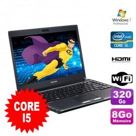 """PC Portable 13.3"""" Toshiba PORTEGE R830-1GD Core I5-2450M 8Go Disque 320Go W7 Pro"""