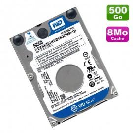 """Disque Dur 500Go SATA 2.5"""" WD Blue WD5000LPVX-80V0TT5 5400RPM Pc Portable 8Mo"""
