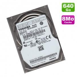 """Disque Dur 640Go SATA 2.5"""" Toshiba MK6459GSX HDD2H91 5400RPM Pc Portable 8Mo"""