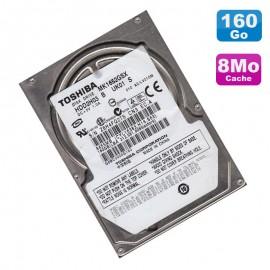"""Disque Dur 160Go SATA 2.5"""" Toshiba MK1652GSX HDD2H03 5400RPM Pc Portable 8Mo"""