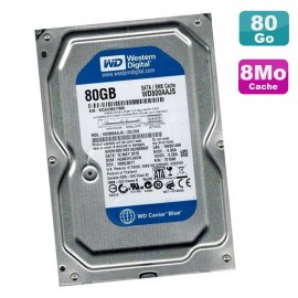 "Disque Dur 80Go SATA 3.5"" WD Caviar Blue WD800AAJS-22L7A0 7200RPM 8Mo"