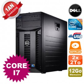 Serveur DELL PowerEdge T310 Intel Core I7-860 2,80GHz 12Go Ram Ecc 2x 2To SATA