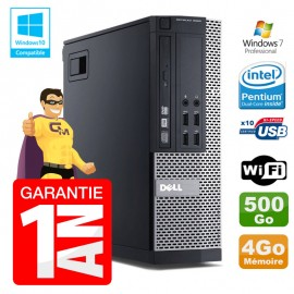 PC Dell 7010 SFF Intel G840 RAM 4Go Disque Dur 500Go DVD Wifi W7